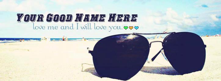 Love me and i will love you Facebook Cover With Name