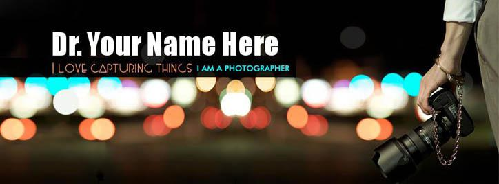 Photographer Male Facebook Cover With Name