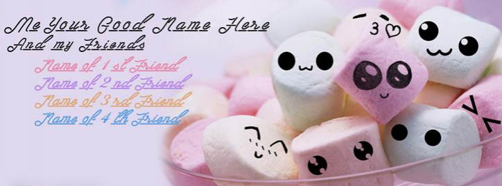 Me and My Friends Facebook Cover With Name