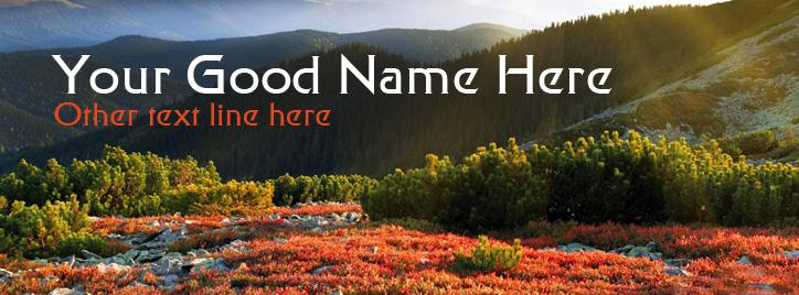 Morning Sunshine Facebook Cover With Name