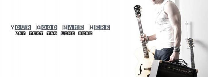 Music is my Passion Facebook Cover With Name
