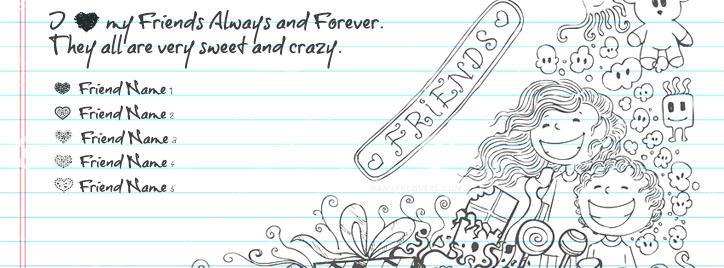 My Crazy Sweet Friends Facebook Cover With Name