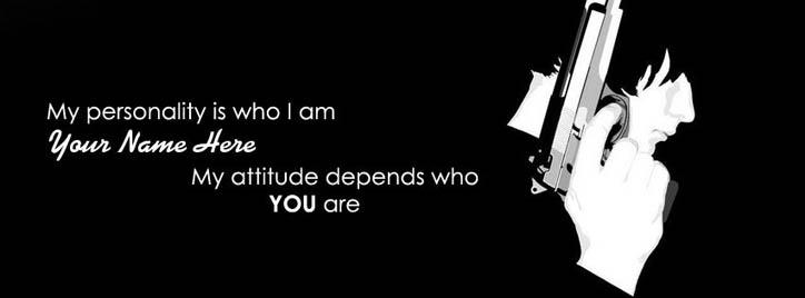 My Personaly is who I am Facebook Cover With Name