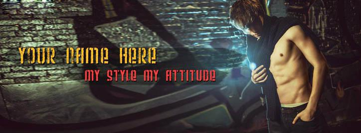 My Style My Attitude Facebook Cover With Name