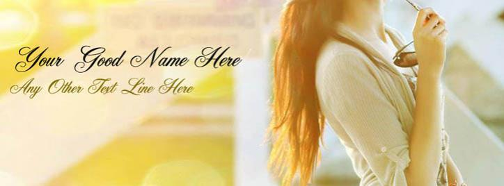 New Dashing Girl Facebook Cover With Name