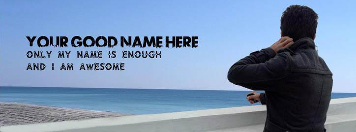 Only my name is enough Facebook Cover With Name
