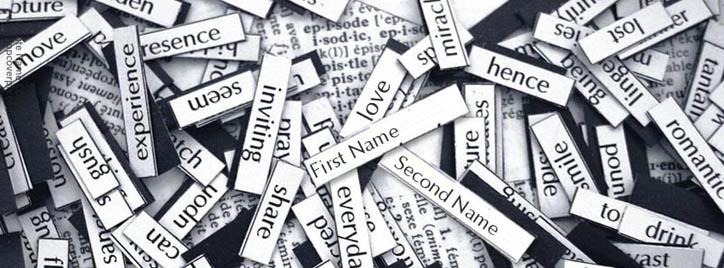 Paper Tags Facebook Cover With Name