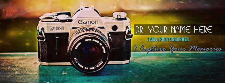Photographer Facebook Cover With Name