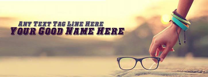 Picking My Glasses Facebook Cover With Name