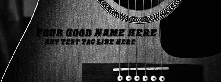 Play Guitar Facebook Cover With Name