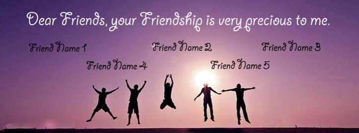 Precious Friendship Facebook Cover With Name