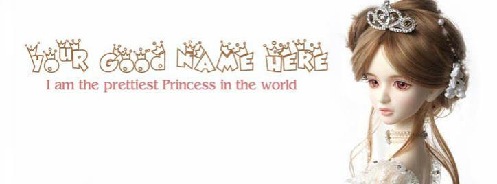 Prettiest Princess Facebook Cover With Name