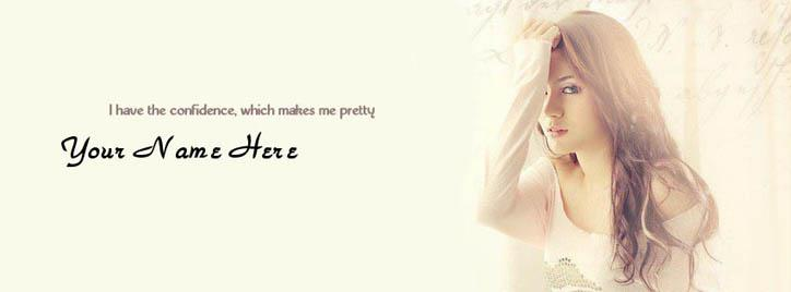 Pretty Girl Facebook Cover With Name