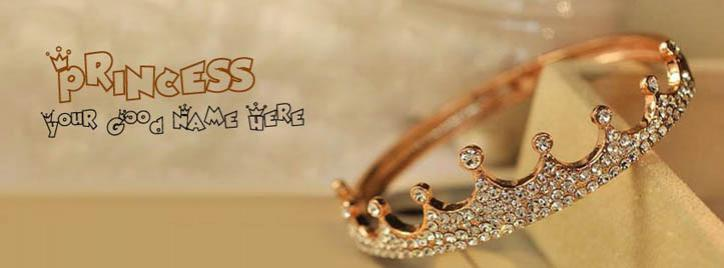 Princess Crown Facebook Cover With Name