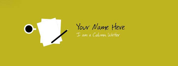 Professional Writer Facebook Cover With Name