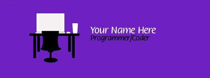 Programmer / Coder Facebook Cover With Name