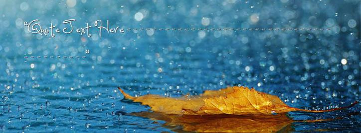 Raining Facebook Cover With Name