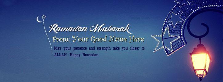 Ramadan Mubarak 2014 Facebook Cover With Name