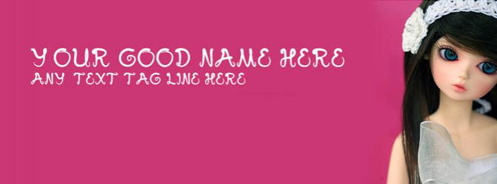 Real Cute Doll Facebook Cover With Name