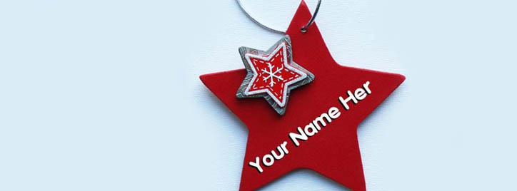 Red Star Facebook Cover With Name
