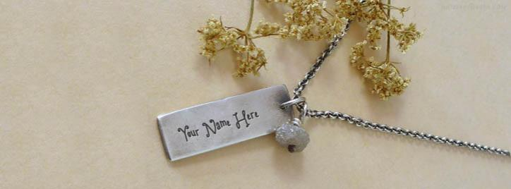 Rough Diamond Beads Necklace Facebook Cover With Name
