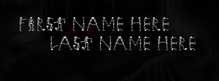 Scary Skelton Facebook Cover With Name