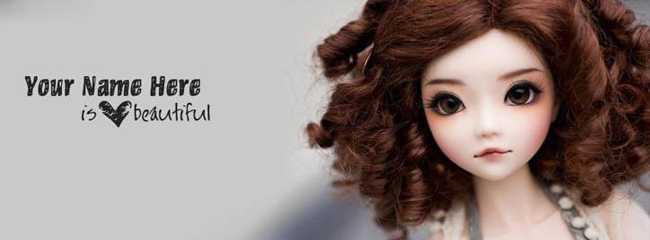 She is Beautiful Facebook Cover With Name