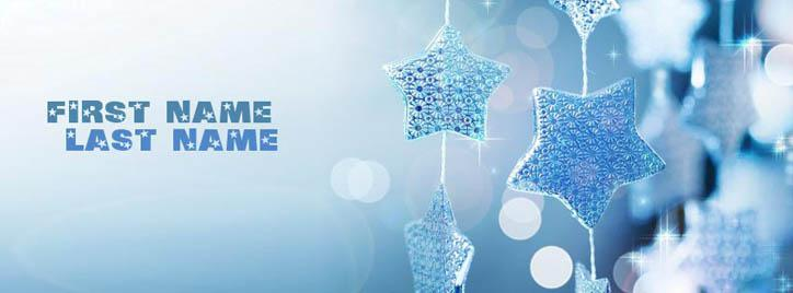 Shining Stars Facebook Cover With Name