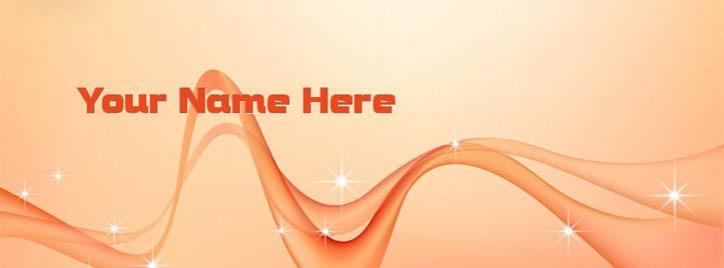 Simple Vector 2 Facebook Cover With Name