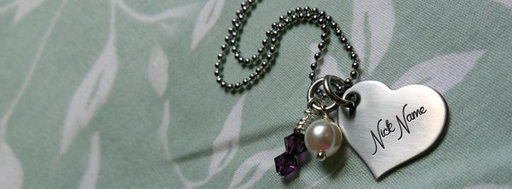 Small Heart Necklace Facebook Cover With Name