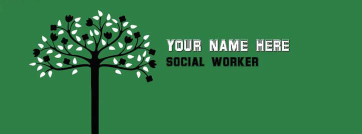 Social Worker Facebook Cover With Name