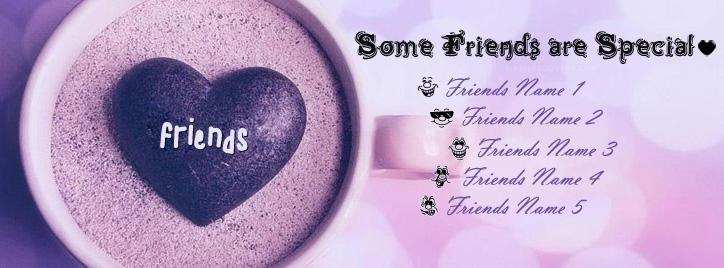 Some Friends Are Special Facebook Cover With Name