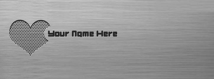 Steel Heart Facebook Cover With Name