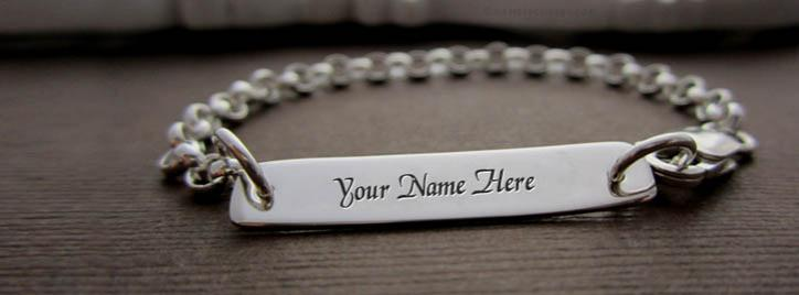 Sterling Personalized Bracelet Facebook Cover With Name