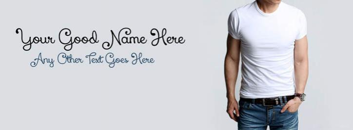 Stylish Cool Guy Facebook Cover With Name