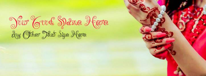 Stylish Girl Fashion Facebook Cover With Name