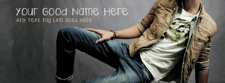 Super Model Boy Facebook Cover With Name
