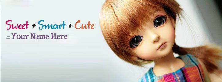 Sweet Smart and Cute Facebook Cover With Name