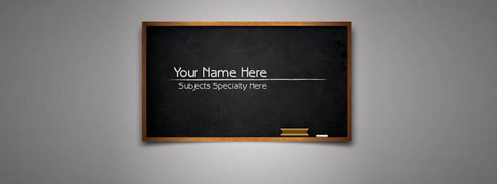 Teacher/Professor/Lecturer Facebook Cover With Name