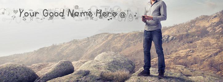Tech Boy Facebook Cover With Name