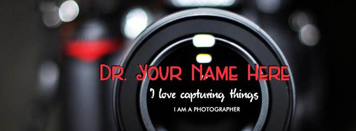 The Photographer Facebook Cover With Name