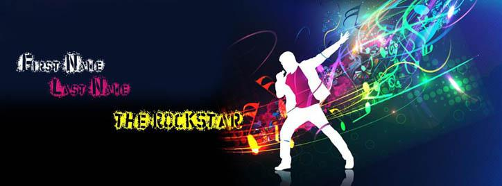 The Rock Star Facebook Cover With Name