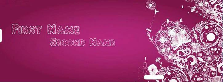 Varicelle Abstract Art Facebook Cover With Name