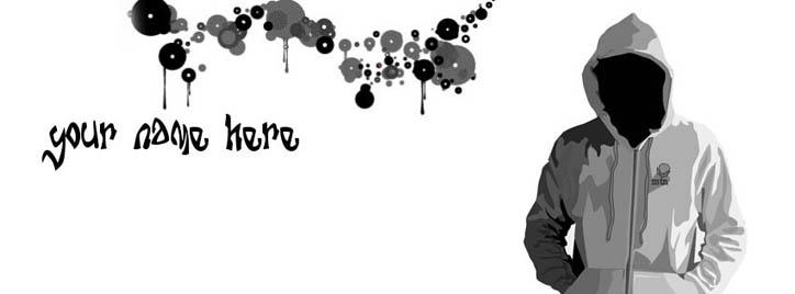 Vector Guy Facebook Cover With Name