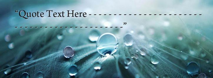 Water Drops on Leaf Facebook Cover With Name