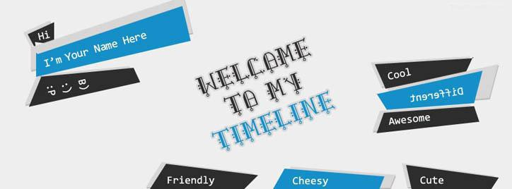 Welcome to my Timeline Facebook Cover With Name