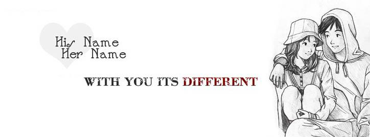 With you its different Facebook Cover With Name