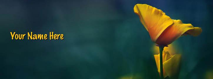 Yellow Flower Facebook Cover With Name