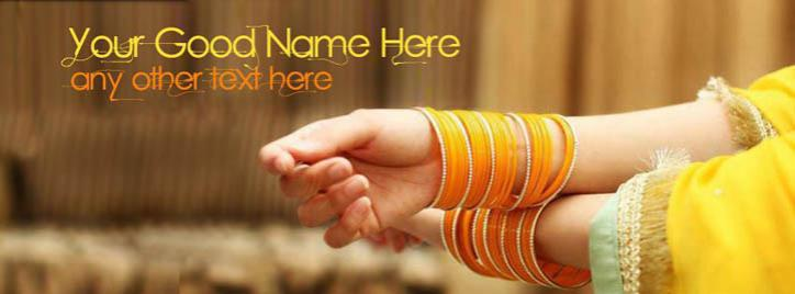 Yellow Orange Bangals Facebook Cover With Name