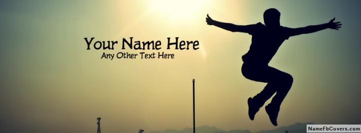 Jumping Boy Facebook Cover With Name
